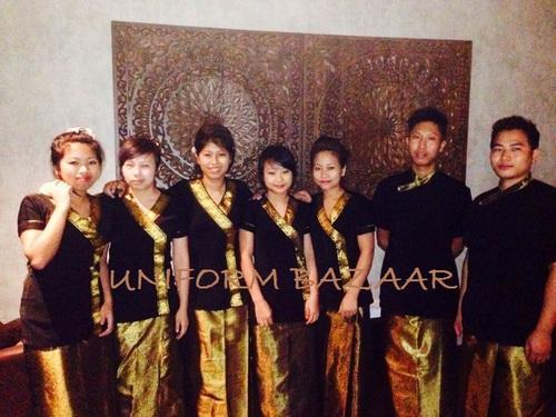 Unisex thai spa uniform spa gaurav international uniform for Uniform thai spa
