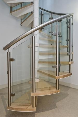 Lovely Round Staircase Railing