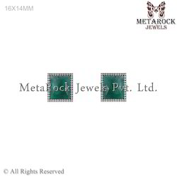 Gemstone Diamond Stud Earring Jewelry