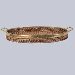 Oval Wicker Tray
