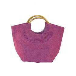 Cane Handle Ladies Jute Bags