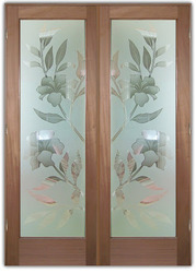 Translucent Floral Designer Glass Door, For Home,Office, Thickness: 12 Mm