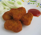 FRESH MARCHE Golden Yellow Chicken Breaded Nuggets, Packaging Type: Vacuum/ Tray/ Institutional