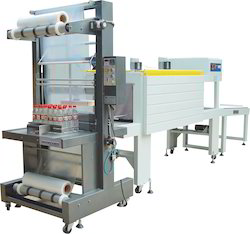 Web Sealer with Shrink Tunnel For 24 Bottle Packaging