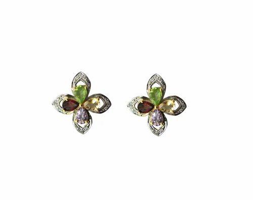 The Mask Jewellery Semi Precious Gemstone Earring