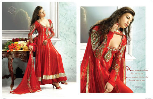 fc8fa5753d Designer Red Salwar Kameez, Salwar - Narsaria Impex, Kolkata | ID ...