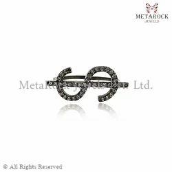 Pave Diamond Dollar Shape Ring