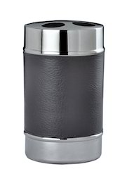 OPI Stainless Steel Leather Tooth Brush Holder