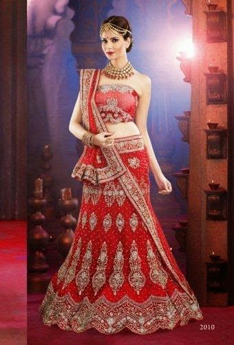 Semi Stitch Lehenga Saree Collections Bridal Lehenga Choli With Resham Work Manufacturer From Surat