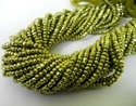 Pyrite Green Gemstone Faceted Rondelle 3-4mm Beads Strands