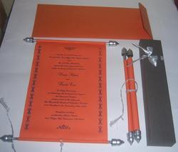 Handmade Multi Custom Designed Scroll Invites With Custom Prints, Shape: Custom