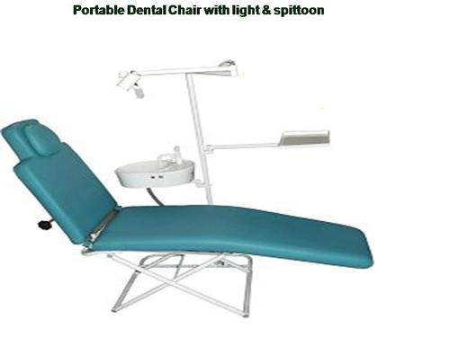 Portable Dental Chair Folding With Light Spittoon 30 000