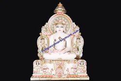 Mahavir Swami Ji Marble Statue
