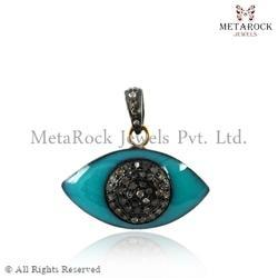 Diamond Evil Eye Pendant & Charms