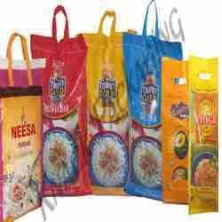 Basmati Rice Packing Handle Bags