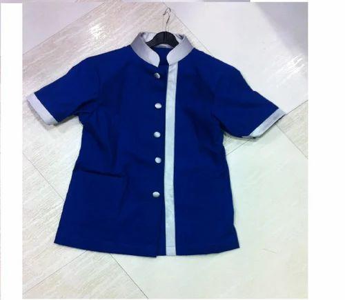 Nylon latest spa uniform gaurav international uniform for Spa uniform blue