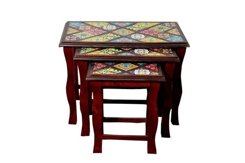 Wooden nest tables sai art handicraft manufacturer in ghitorni wooden nest tables watchthetrailerfo