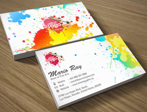 Colorful business card design business cards printing services in colorful business card design reheart Images