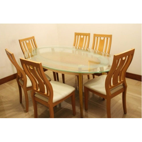Six Seater Dining Table Small Dining Table Dinette Table Sharon Dining Table ड इन ग र म ट बल Shah Furniture Nagpur Id 9946182773