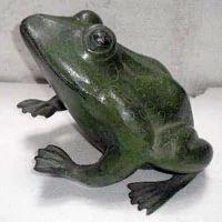 Aluminum Frog Sculpture