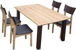Italian Wooden Table & Chairs