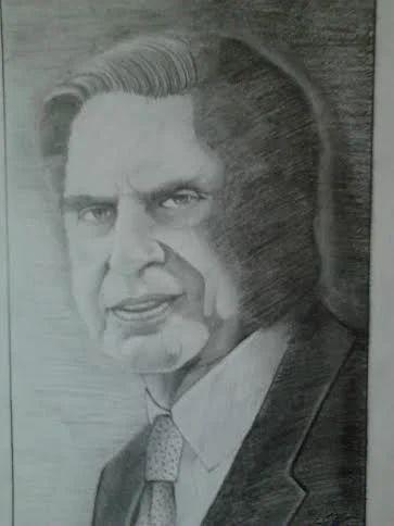 Decorative portrait art sketch
