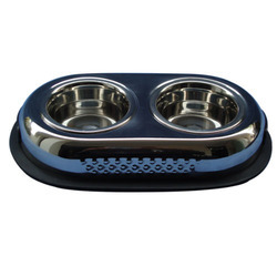 Stainless Steel Double Diner Pet Bowl