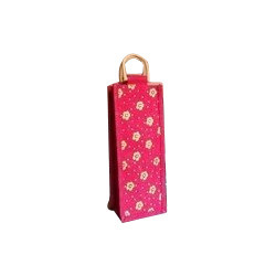Designer Jute Wine Bag