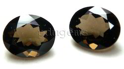 Smoky Quartz Faceted Oval Pair Gemstone