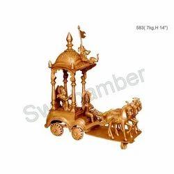 Brass Krishna Arjun Rath