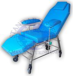 Ss Stainless Steel Blood Transfusion Chair, Size: 60 x 20 x 20
