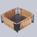 Square Handicraft Cane Basket