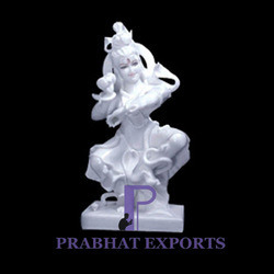 Dancing Shiva Marble Statue