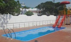 Blue PVC Oval Shaped Swimming Pool, for Amusement Park