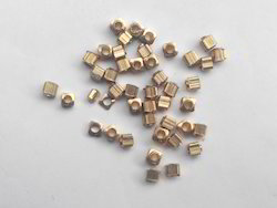 Golden Square Brass Bead