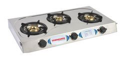 3 Burner Stainless Steel Gas Stove
