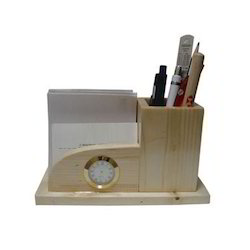 Wooden Office Pen Stand