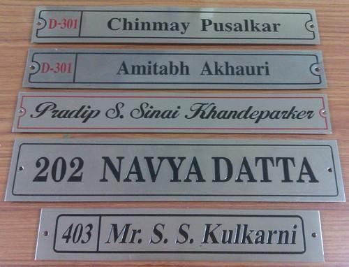Stainless Steel Name Plates Boards Stainless Steel Name Plates