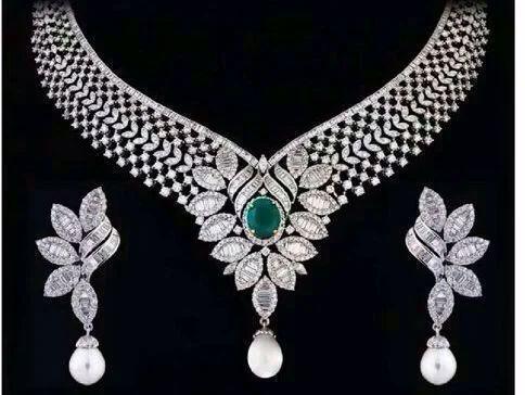 Heavy Diamond Necklace Set ह र क ह र क स ट In Mulund West Mumbai Deep Jewels Id 8884712862