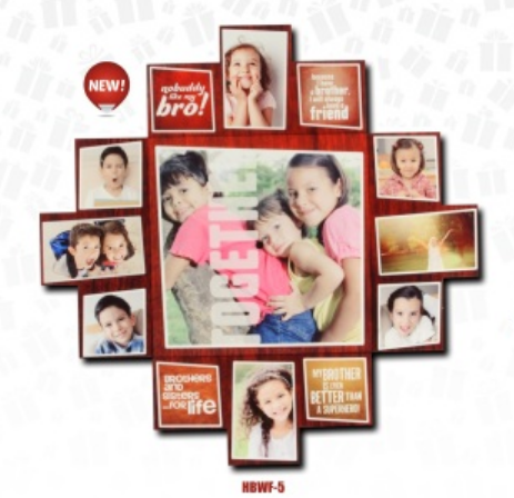 Personalized Kids Collage Photo Frame at Rs 500 /piece | Kids Photo ...