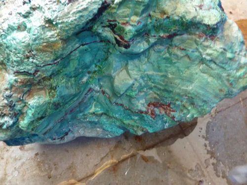 Price Of Chrysocolla Rough Gemstone - Coszcatl Exports