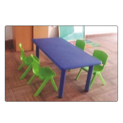 Purple & Green Maruthi Enterprises Preschool Furniture