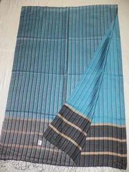 Pure Silk Plain Weave Reversible Stripes Stole