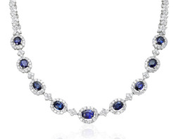 Precious Stone Diamond Necklace
