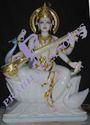 Maa Saraswati Marble Statue