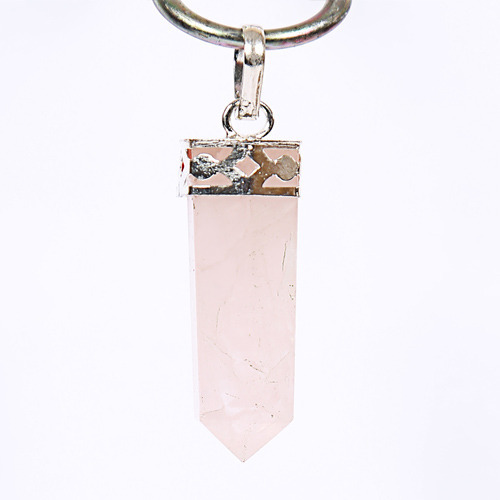 Rose quartz energized point pendant for love quartz ka jhumka rose quartz energized point pendant for love mozeypictures Images