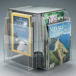 Revolving Acrylic Magazine Stand