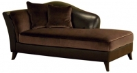Leather Chaise Brown Sofa