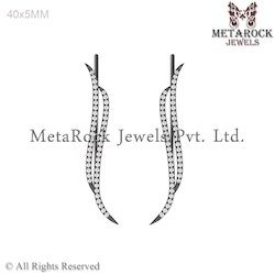 Pave Setting Diamond Party Wear Diamond Ear Cuff Jewelry