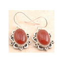 Ritzy Red Onyx Cocktail Earring